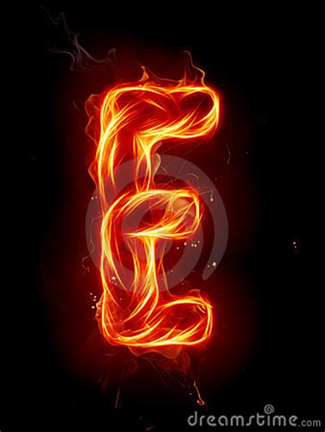 Fire Letter E Royalty Free Stock Image - Image: 7197616