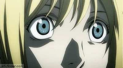 Death Note Gif - Misa Amane - Eyes Reaction - Find and
