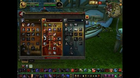 World of Warcraft fury warrior talent tree and rotation
