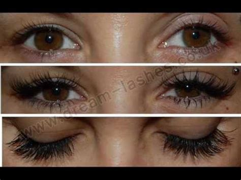 Eyelash Extensions by DREAM LASHES Before and After - YouTube