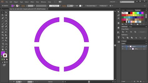 How to Cut a Circle into 4 Equal Parts in Adobe