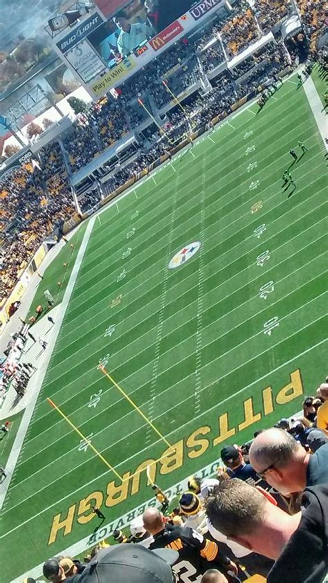 Heinz Field, section 525, home of Pittsburgh Steelers