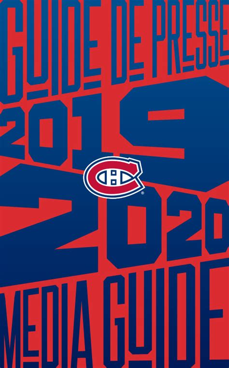 NHL Media Guide: Montreal Canadiens (2019-20