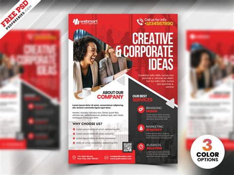A4 Corporate Flyer PSD Template   PSDFreebies