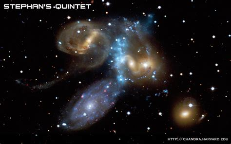 Stephan's Quintet-A Galaxy Collision in Action | NASA