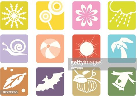 Symbols Of 12 Months Vector Art | Getty Images