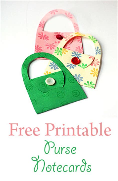 Notecard Purses with Free Template - Sweet T Makes Three
