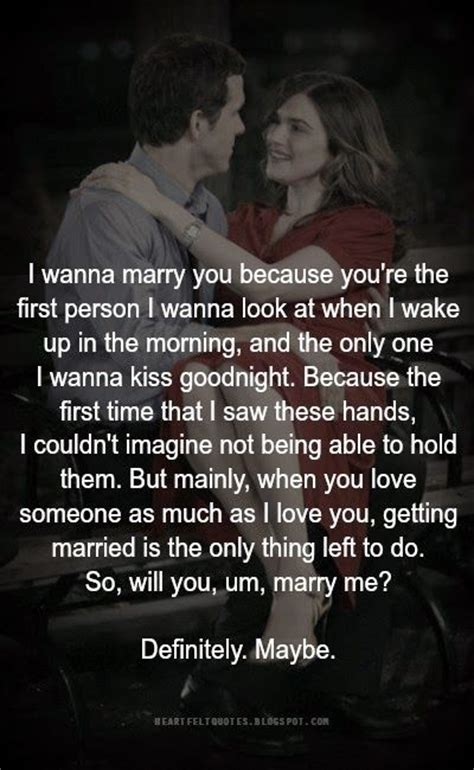 Love Quotes For Him & For Her :So, will you, um, marry me