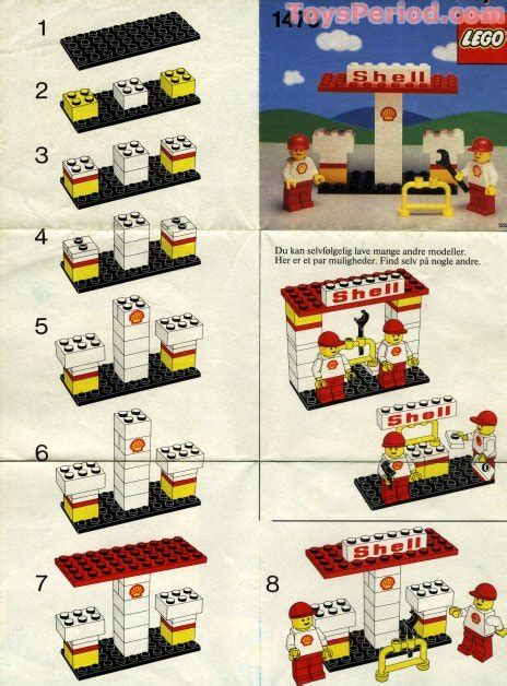 LEGO 1470 Shell Station Set Parts Inventory and