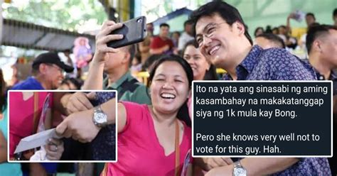 Bong Revilla allegedly gives out white envelopes with cash