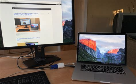 Connect Your MacBook Pro to a Desktop Monitor With Apple's